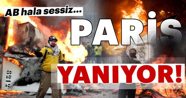 Élysée Sarayı'nda neler oluyor? Paris yanıyor!