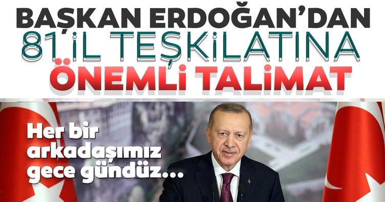 Son dakika: Başkan Erdoğan'dan AK Parti teşkilatlarına önemli talimat
