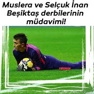 Muslera ve Selçuk İnan Beşiktaş derbilerinin müdavimi!