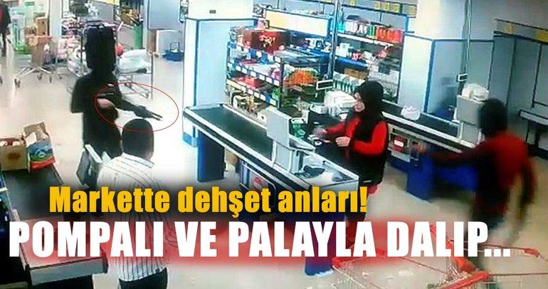 Son dakika: Mardin'de pompalı tüfek ve palayla marketi soydular