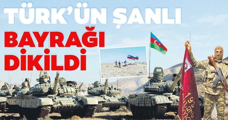 Son dakika haberi... Türk'ün şanlı bayrağı dikildi! Mevzileri bırakıp kaçıyorlar