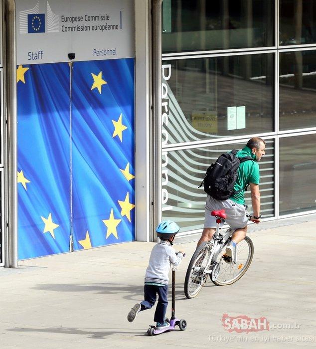 Brüksel'de Arabasız Günde şaşırtan trafik kazası