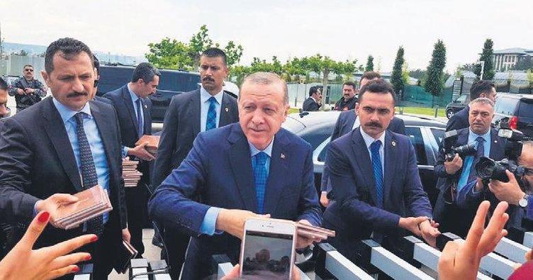 Şanlı direnişin kalbinde Erdoğan ile görüştüler