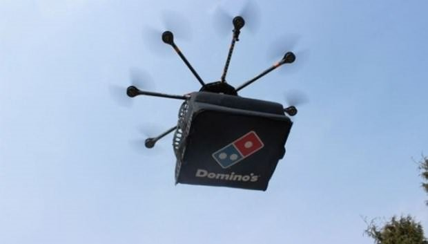 Drone'la pizza teslimatı başladı