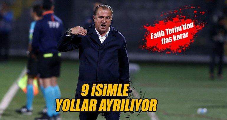 Galatasaray'da gönderilecek futbolcular belli oldu