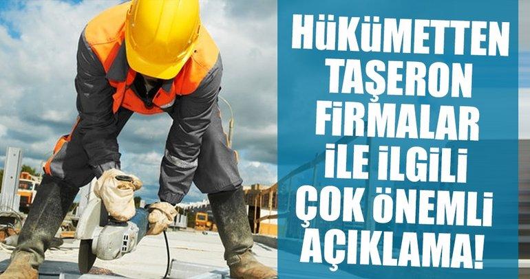 Taşeron firmalarla ilgili Bakan Sarıeroğlu'ndan açıklama