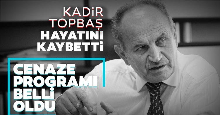 SON DAKİKA: İstanbul Büyükşehir Belediyesi İBB Eski Başkanı Kadir Topbaş hayatını kaybetti!