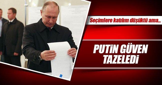 Putin güven tazeledi