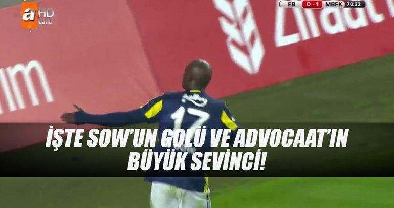 İşte Moussa Sow'un golü ve Advocaat'ın büyük sevinci