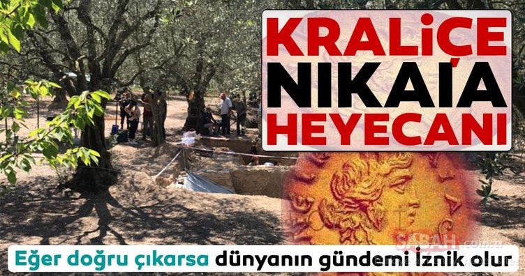 İznik'te bulunan lahit için Kraliçe Nikaia heyecanı