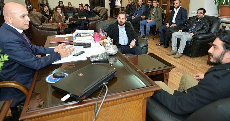 Erzurum'da AK Parti Yakutiye Gençlik Kolları'ndan Ali Korkut'a ziyaret