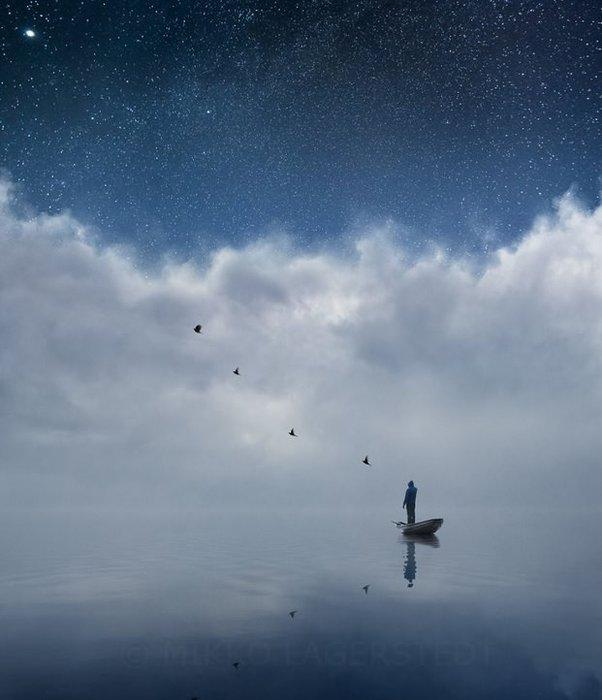 Gökyüzüyle bütünleşen muhteşem kareler