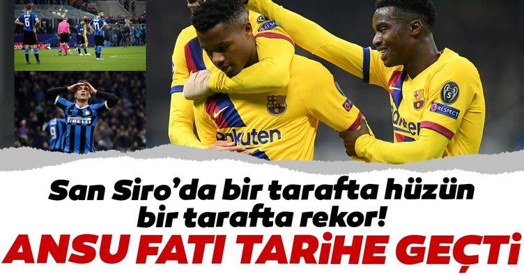 Ansu Fati tarihe geçti! Inter - Barcelona maçında attığı golle Şampiyonlar Ligi rekorunu kırdı