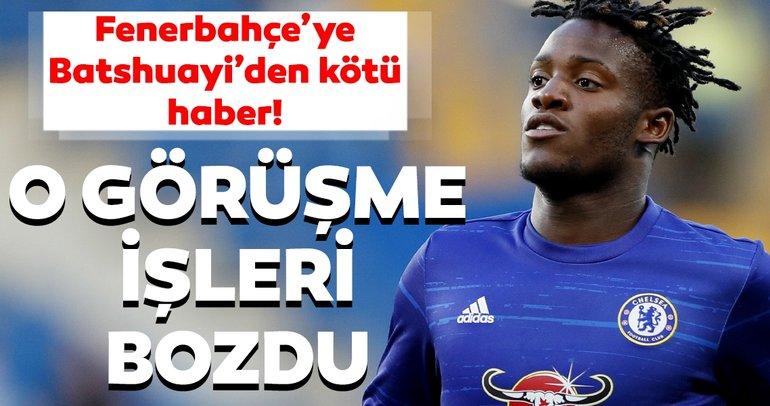 Fenerbahçe'ye Batshuayi'den kötü haber! O görüşme işleri bozdu