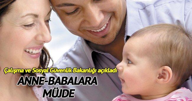 Yeni anne-babalara müjde
