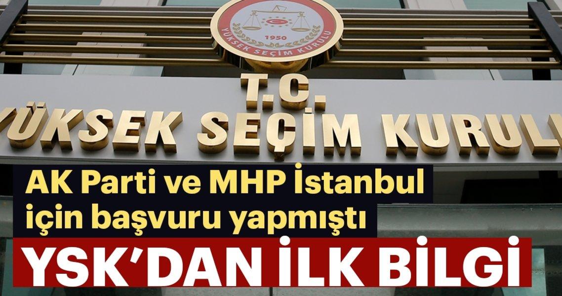 YSK'dan önemli bilgi! AK Parti'nin İstanbul itirazı ne zaman görüşülecek?