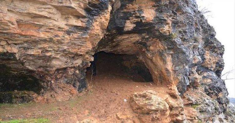Dağlıca'da mağara bulundu