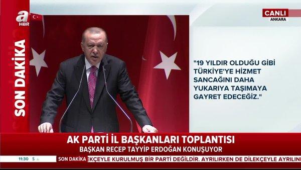 Cumhurbaşkanı Erdoğan'dan AK Parti İl Başkanları toplantısında önemli açıklamalar (13 Ağustos 2020 Perşembe)   Video