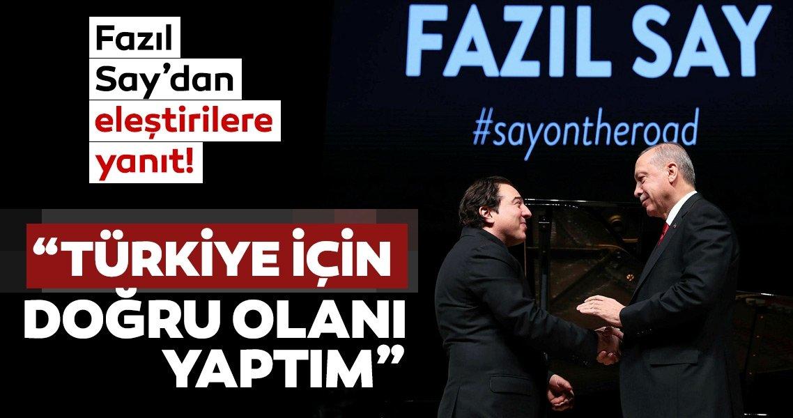 Fazıl Say'dan Erdoğan ile görüşmesine ilişkin flaş açıklama