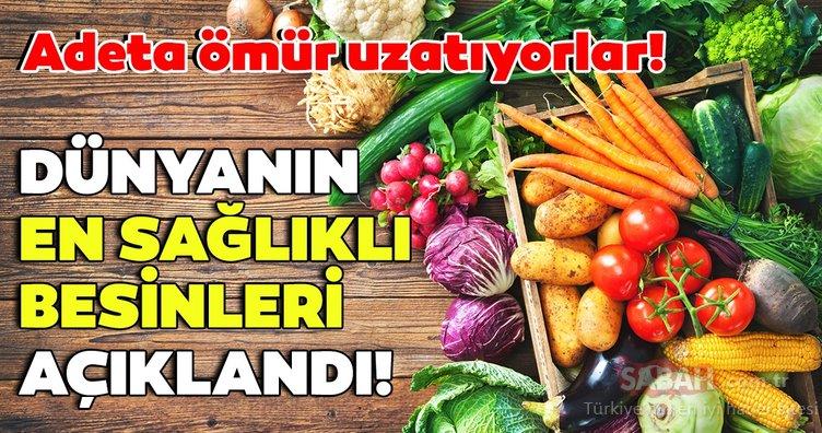 Dünya üzerindeki en sağlıklı besinler açıklandı! Bu besinler adeta ömür uzatıyor!