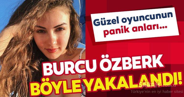 Afili Aşk'ın Ayşe'si Burcu Özberk siyah bikinisiyle böyle yakalandı! Güzel oyuncunun panik anları…