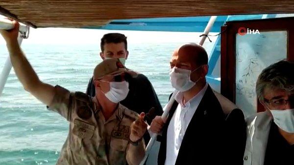 Son dakika: İçişleri Bakanı Soylu Van Gölü'ndeki arama kurtarma çalışmasına katıldı | Video
