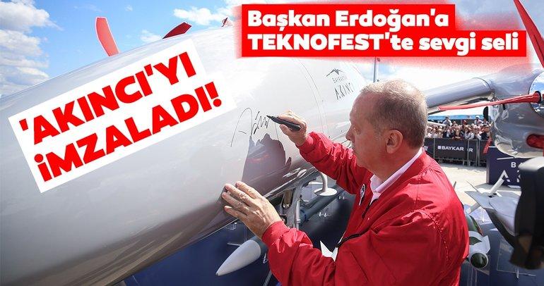 Akıncı'ya Başkan Erdoğan imzası