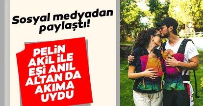 Pelin Akil ile eşi Anıl Altan sosyal medyada devam eden akıma uydu