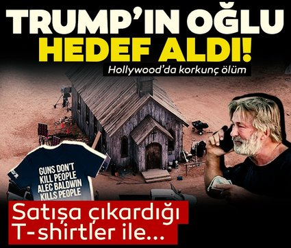 Donald Trump'ın oğlundan şok Alec Baldwin hamlesi! T-shirtlerin üzerine bunu yazdı...