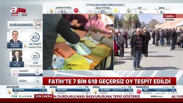 İstanbul Fatih'te de oylar yeniden sayılmaya başlanacak!
