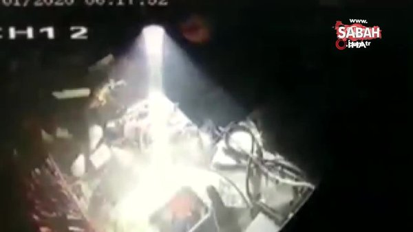 Matkap bomba gibi patladı, tezgah savaş alanına döndü! O anlar kamerada...