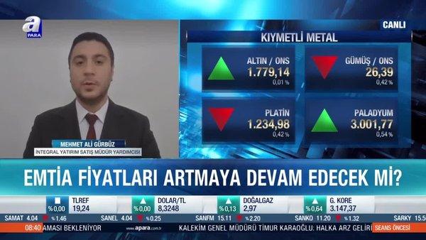 Dr. Mehmet Ali Gürbüz: 5 yılın en önemli belirleyicilerinden birisi emtia fiyatları olacak