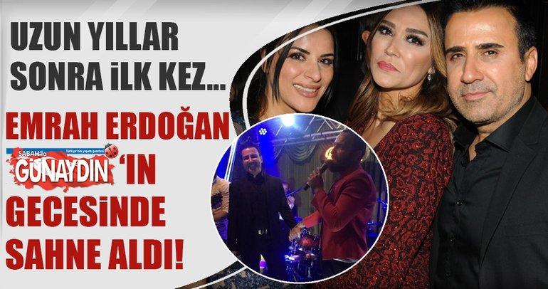 Emrah Erdoğan sahne aldı
