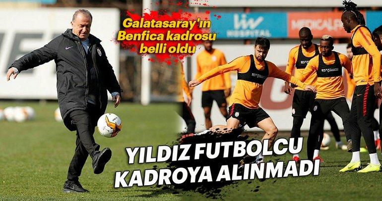 Galatasaray'ın Benfica kadrosu belli oldu