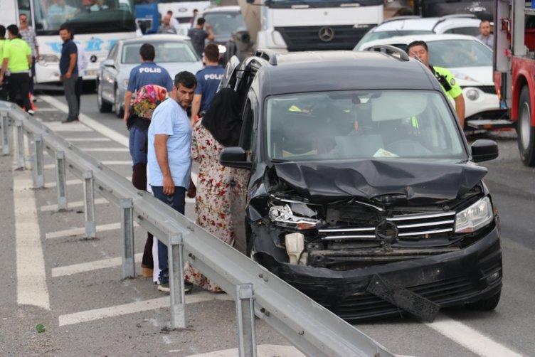 TEM otoyolundaki kazada istanbul istikameti ulaşıma kapandı
