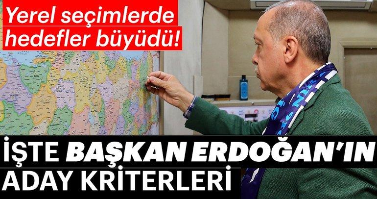 Başkan Erdoğan'ın aday kriterleri