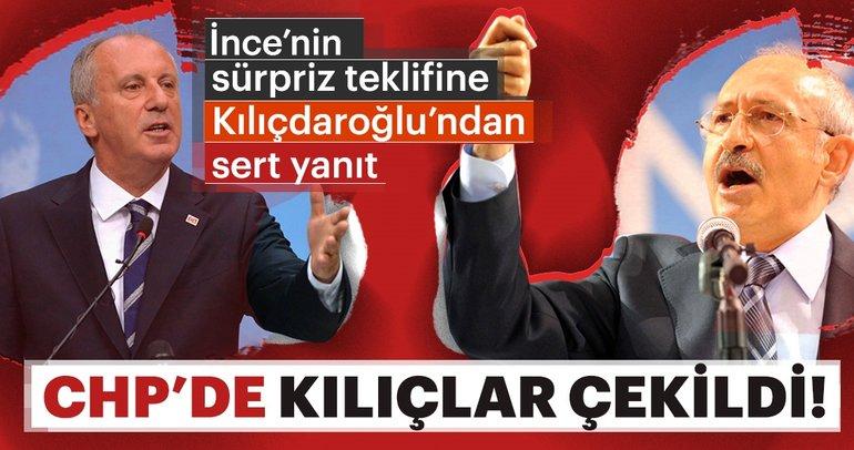 Son Dakika: Muharrem İnce'nin teklifine Kılıçdaroğlu'ndan sert yanıt