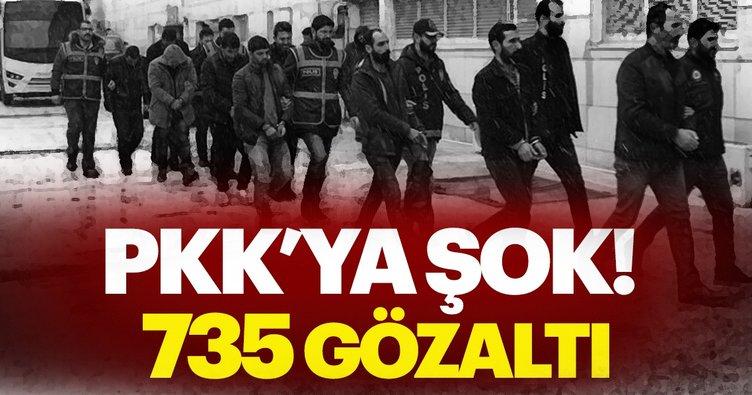 Son dakika: 735 terörist PKK şüphelisi gözaltına alındı