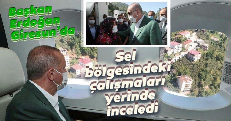 Başkan Erdoğan Giresun'a geldi! Çalışmaları yerinde inceleyecek