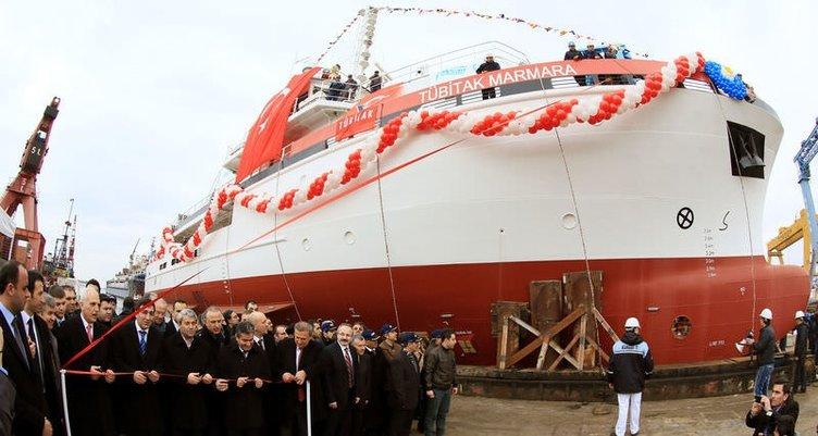 Türkiye'nin ilk araştırma gemisi denize indi