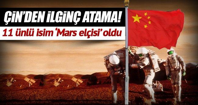 Çin Mars'a 'elçi' atadı