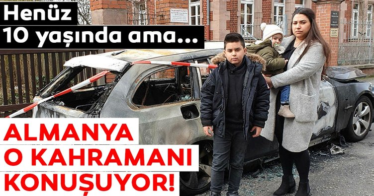 Kardeşini yanan araçtan kurtaran 'Kahraman Kenan'a madalya!