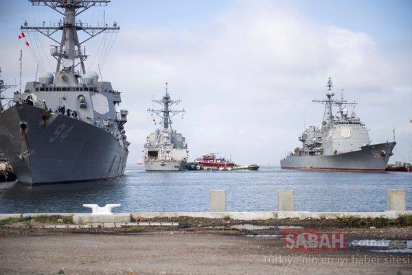 Önce ABD Savaş gemileri kaçtı