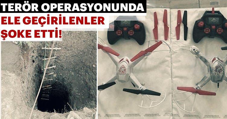 Diyarbakır'daki büyük terör operasyonunda ele geçirilenler şoke etti!