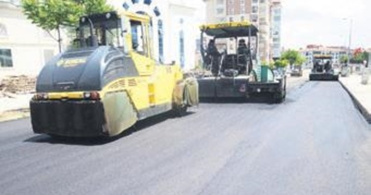 Pursaklar'da 46 sokak asfaltlandı