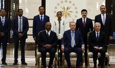 Cumhurbaşkanı Erdoğan Etiyopta büyükelçisini kabul etti