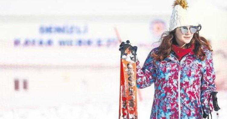 Denizli'de ücretsiz kayak kurslarına ilgi