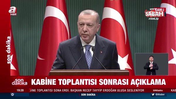 Son dakika haberi: Başkan Recep Tayyip Erdoğan'dan önemli açıklamalar | Video