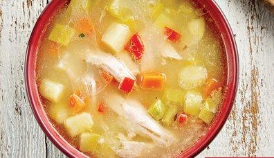Tavuklu Sebze Çorbası