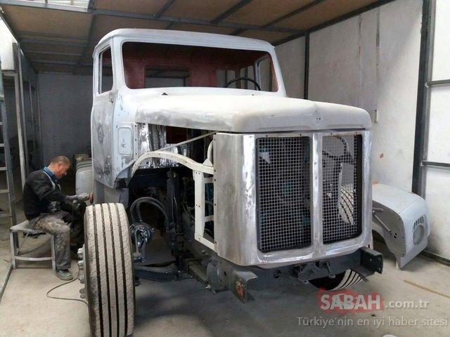 78 model Scania Vabis kamyona 85 bin lira harcadı! Görenleri hayran bıraktı